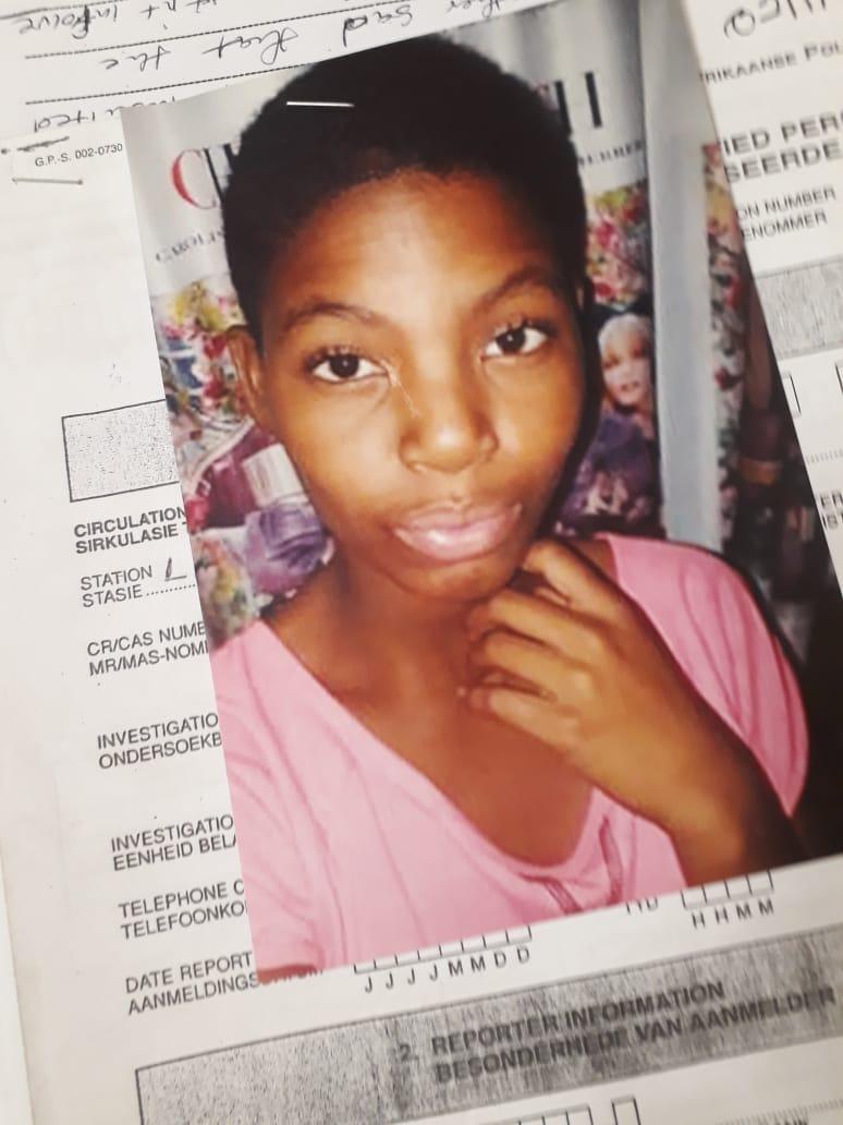 Missing teenager, Mathapelo Mabitsela aged 14