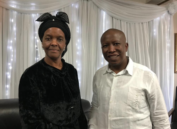EFF's Julius Malema credited with helping Robert Mugabe's family with burial wishes